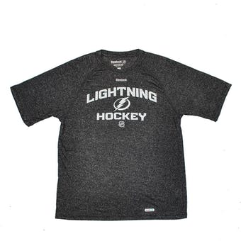 Tampa Bay Lightning Reebok Grey Speedwick Performance Tee Shirt (Adult XL)