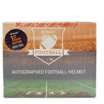 2019 Hit Parade Autographed FS Football Helmet 1ST ROUND EDITION Hobby Box - Series 3 - P. Mahomes & K. Murray