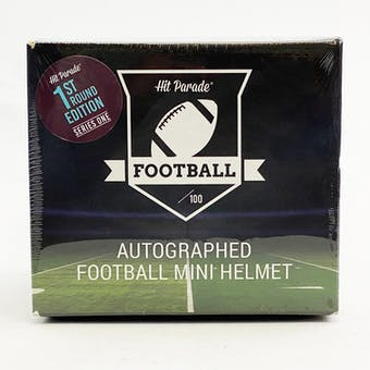 2020 Hit Parade Autographed Football Mini Helmet 1ST ROUND EDITION Hobby Box - Series 1 - Mahomes!!!