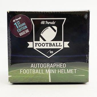 2021 Hit Parade Autographed Football Mini Helmet 1ST ROUND EDITION Hobby Box - Series 1 - Mahomes!!!