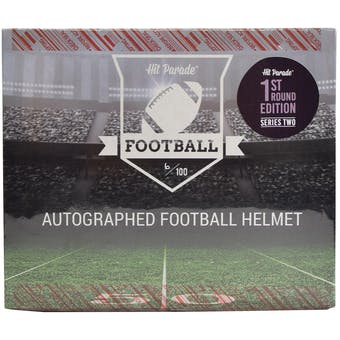 2019 Hit Parade Autographed FS Football Helmet 1ST ROUND EDITION Hobby Box - Series 2 - Mahomes & Luck!!!