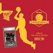 2020/21 Hit Parade Basketball 1986-87 The PSA 8 Edition - Series 2 - Hobby Box /143 PSA Jordan (SHIPS 10/29)