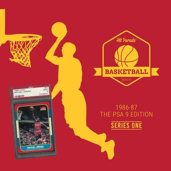 2020/21 Hit Parade Basketball 1986-87 The PSA 9 Edition - Series 1 - Hobby Box /143 PSA Jordan (Ships 5/12)