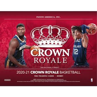 2020/21 Panini Crown Royale Basketball Hobby 8-Box- DACW Live 30 Spot Random Team Break #1