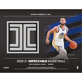 2020/21 Panini Impeccable Basketball Hobby 3-Box Case (Presell)