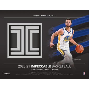 2020/21 Panini Impeccable Basketball Hobby 3-Box Case- DACW Live 30 Spot Random Team Break #1