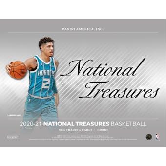 2020/21 Panini National Treasures Basketball Hobby 4-Box Case (Presell)