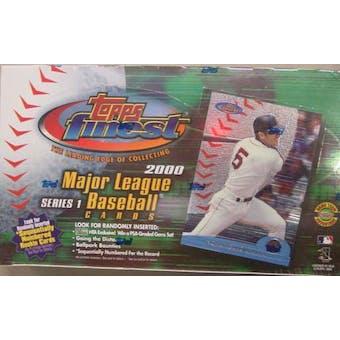 2000 Topps Finest Series 1 Baseball Jumbo Box