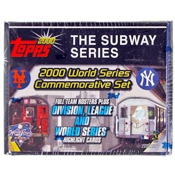 2000 Topps Baseball Subway Series Factory Set (box) (Yankees/Mets) - Rare!