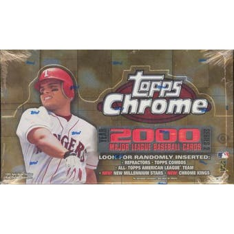2000 Topps Chrome Series 2 Baseball Hobby Box