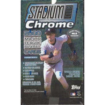 2000 Topps Stadium Club Chrome Baseball Hobby Box
