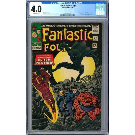 Fantastic Four #52 CGC 4.0 (OW) *2001108003*