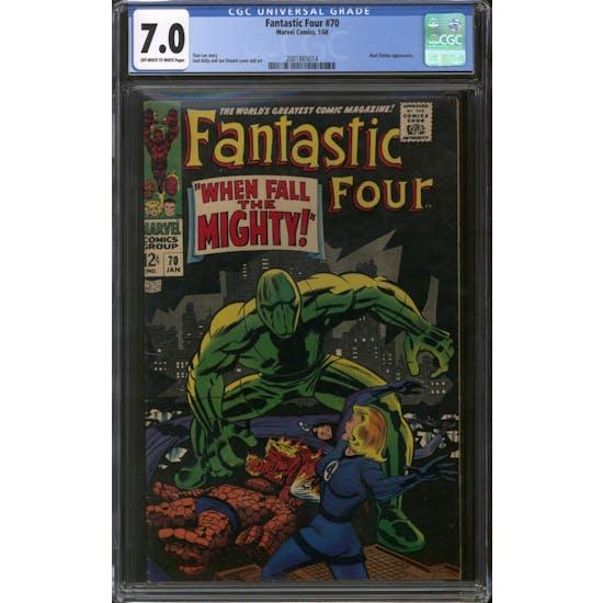 Fantastic Four #70 CGC 7.0 (OW-W) *2001865014*