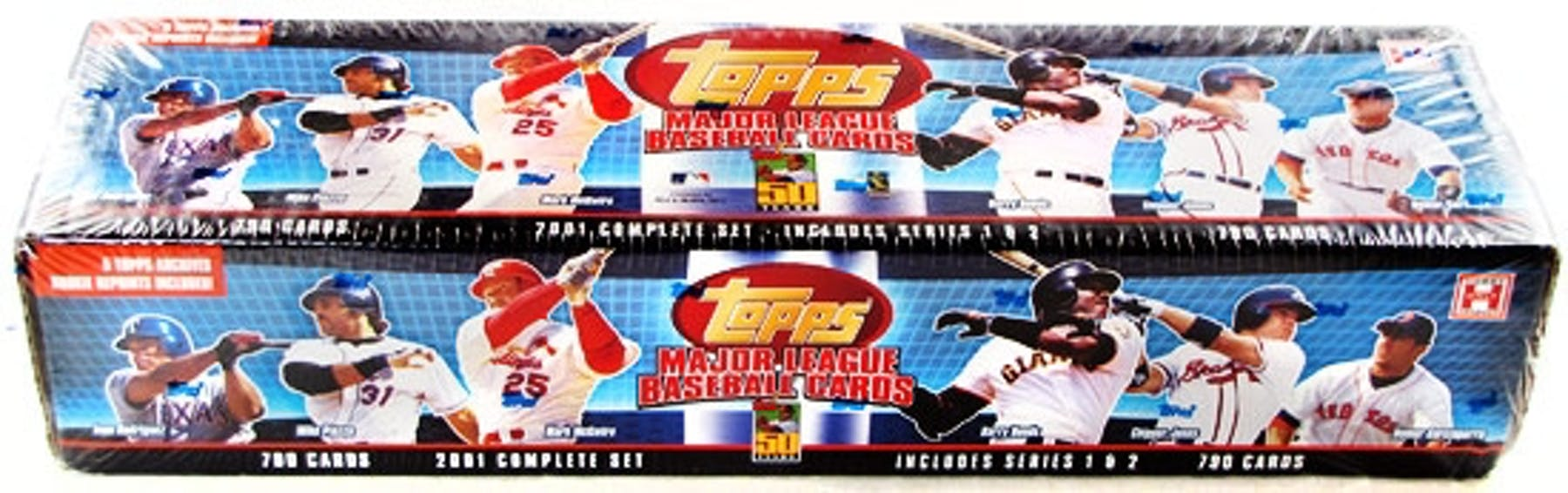 2001 Topps Baseball Hobby Factory Set Box Blue