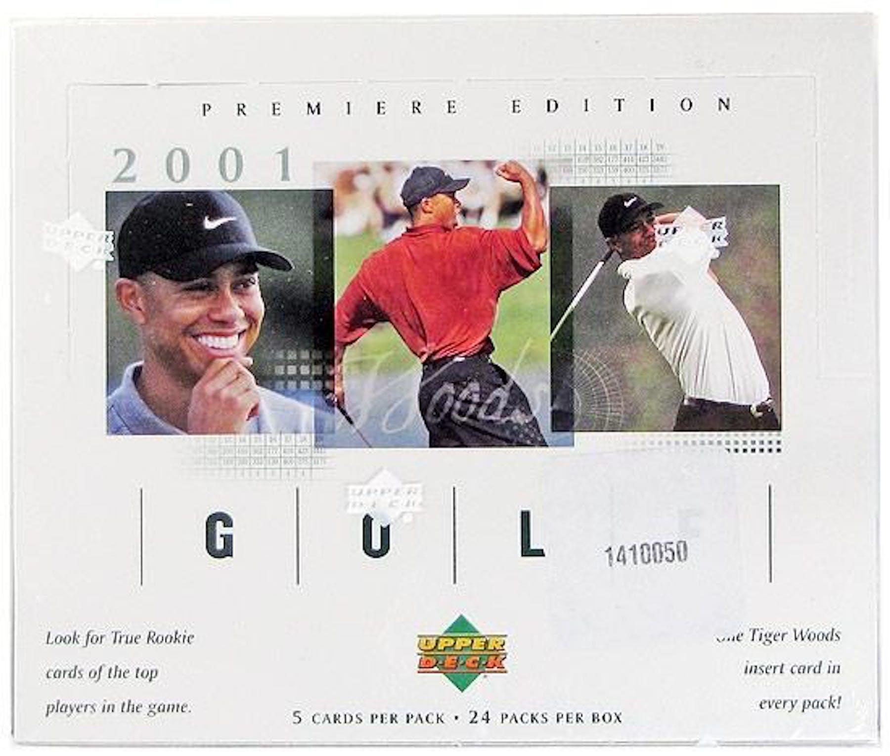 2001 Upper Deck Golf Hobby Box Da Card World