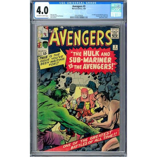 Avengers #3 CGC 4.0 (OW-W) *2002458004*