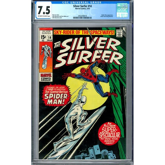 Silver Surfer #14 CGC 7.5 (OW-W) *2002458019*