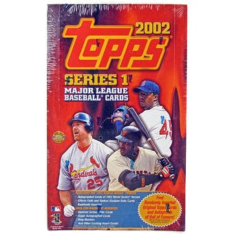 2002 Topps Series 1 Baseball Jumbo Box (Reed Buy)