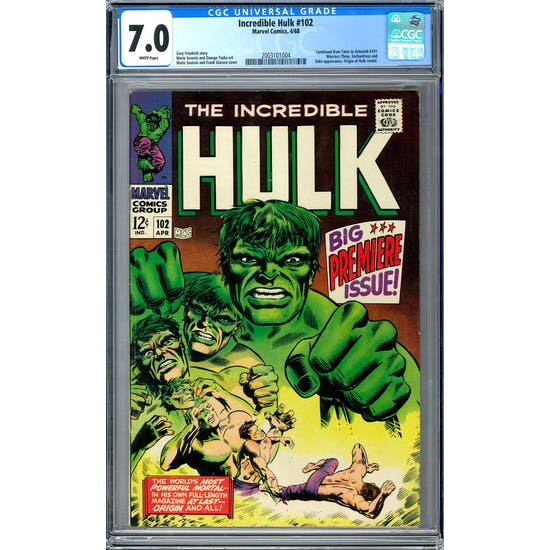 Incredible Hulk #102 CGC 7.0 (W) *2003101004*