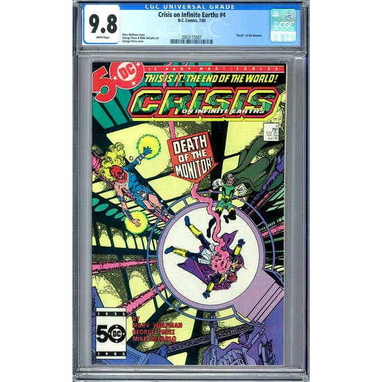 Crisis on Infinite Earths #4 CGC 9.8 (W) *2003115007*