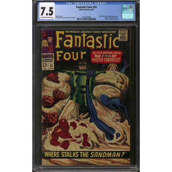 Fantastic Four #61 CGC 7.5 (OW-W) *2004249006*