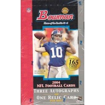 2004 Bowman Football Jumbo Box