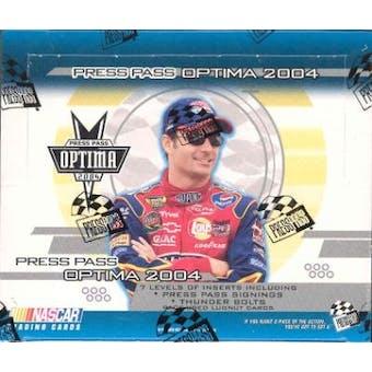 2004 Press Pass Optima Racing Hobby Box