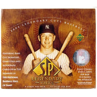 2004 Upper Deck SP Legendary Cuts Baseball Hobby Box