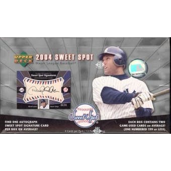 2004 Upper Deck Sweet Spot Baseball Hobby Box