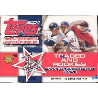 2004 Topps Traded & Rookies Baseball Jumbo Box