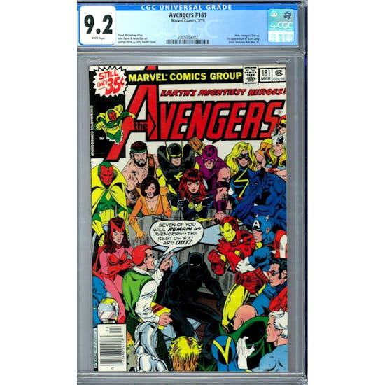 Avengers #181 CGC 9.2 (W) *2005999002*