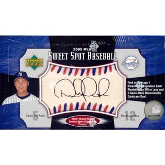 2005 Upper Deck Sweet Spot Baseball Hobby Box