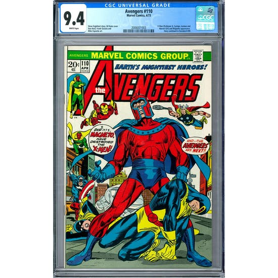 Avengers #110 CGC 9.4 (W) *2006001003*
