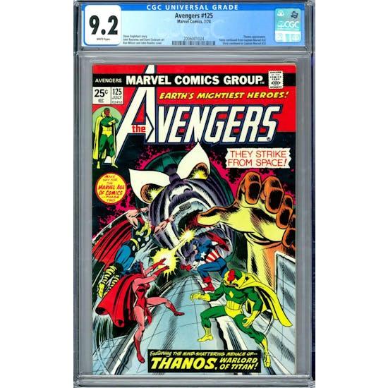 Avengers #125 CGC 9.2 (W) *2006001024*