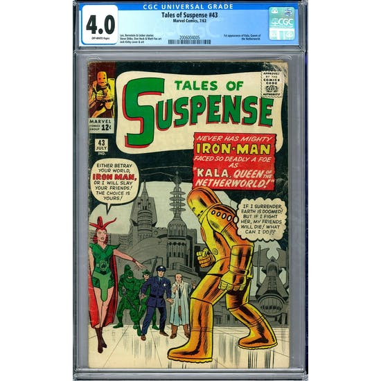 Tales of Suspense #43 CGC 4.0 (OW) *2006004005*