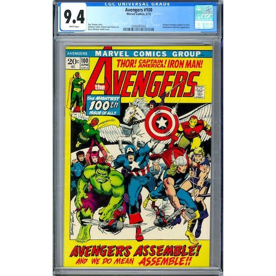 Avengers #100 CGC 9.4 (W) *2006087002*