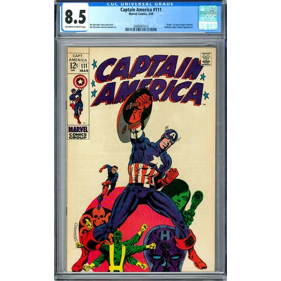 Captain America #111 CGC 8.5 (OW-W) *2006087012*