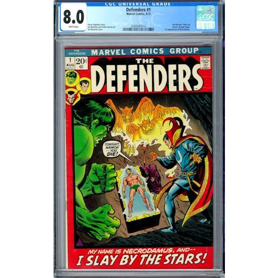 Defenders #1 CGC 8.0 (W) *2006087014*