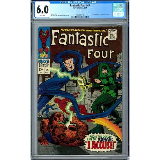 Fantastic Four #65 CGC 6.0 (W) *2006087016*