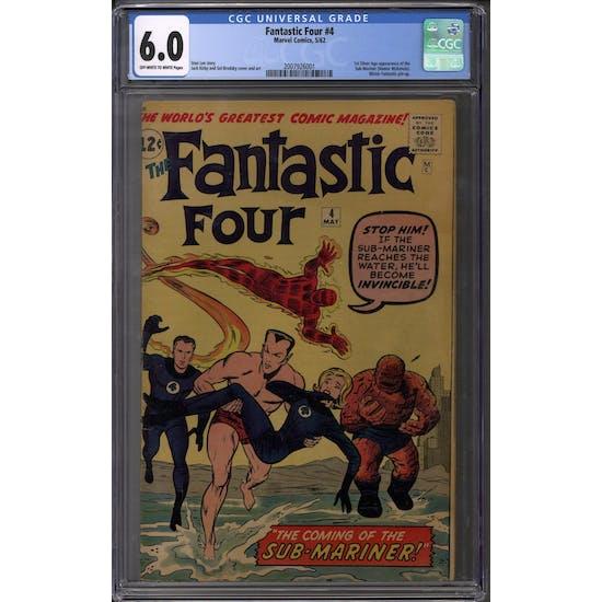 Fantastic Four #4 CGC 6.0 (OW-W) *2007926001*