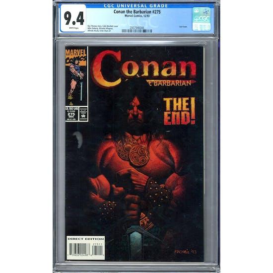 Conan the Barbarian #275 CGC 9.4 (W) *2007946006*
