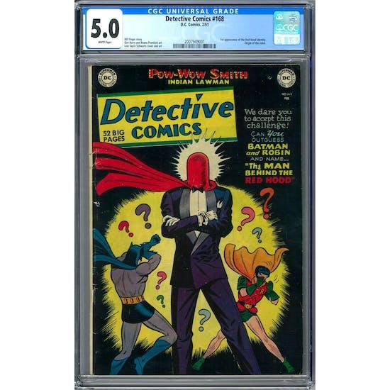 Detective Comics #168 CGC 5.0 (W) *2007949001*
