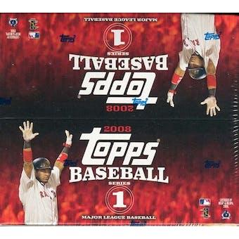 2008 Topps Series 1 Baseball 24-Pack Box