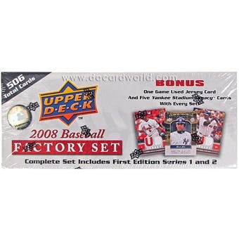 2008 Upper Deck 1st Edition Baseball Factory Set