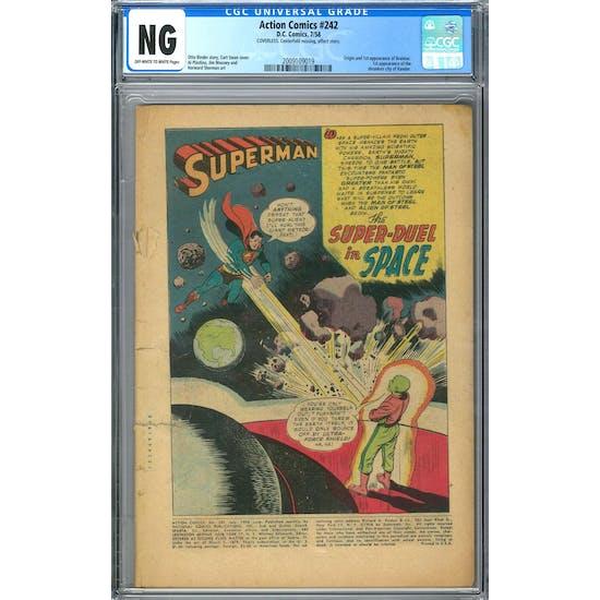 Action Comics #242 CGC NG (OW-W) *2009109019*
