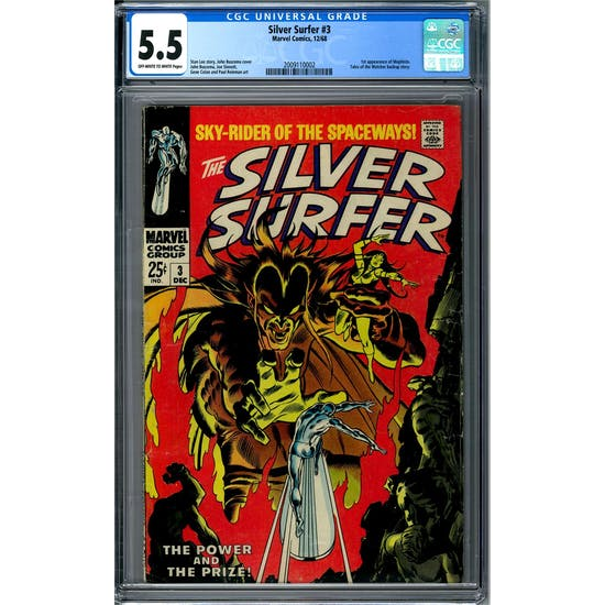 Silver Surfer #3 CGC 5.5 (OW-W) *2009110002*