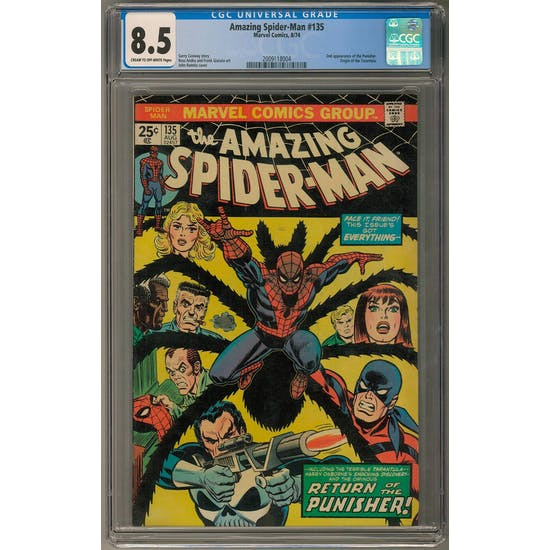 Amazing Spider-Man #135 CGC 8.5 (C-OW) *2009118004*