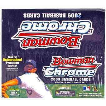 2009 Bowman Chrome Baseball 24-Pack Box