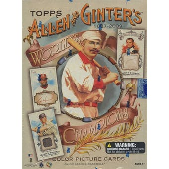 2009 Topps Allen & Ginter Baseball Hobby Box