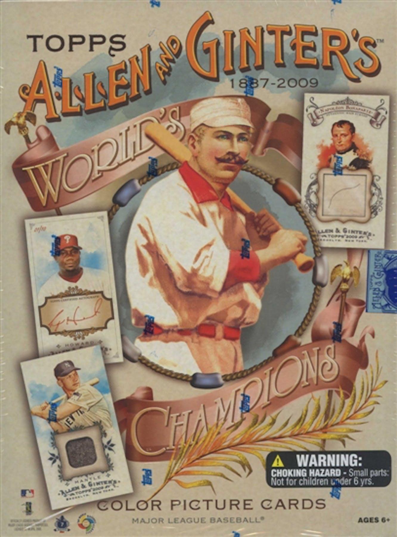 2009 Topps Allen Ginter Baseball Hobby Box